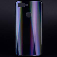 Чехол накладка Gradient Aurora для Xiaomi Mi 8 Lite / Mi 8 X TPU + Class Черный, фото 2