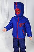 """Курточка для мальчика демисезонная """"Спайдермен"""" рост 98-104-110-116см, фото 3"""
