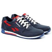 Чоловічі шкіряні кросівки Anser Reebok New Line Dark Blue Red (Репліка).  Розмір 41 ae135ef82ecdf