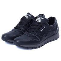 Чоловічі шкіряні кросівки Reebok Classic Black (Репліка). Розмір 42 79ade569a6dab
