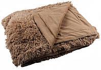 Меховые покрывала с длинным ворсом двуспального  размера 200*220 Светло - коричневый