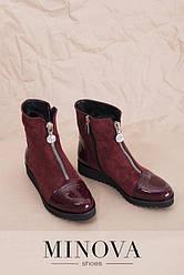 Натуральные замшевые ботинки с лакированными вставками размеры: 36-42