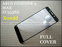 Tempered Glass 9H защитное стекло для Asus Zenfone 3 Max Zc553KL X00dd , 0,3 мм закаленное Full Cover black