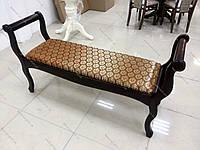 Скамья деревянная для прихожей или спальни Джокер Микс мебель, цвет темный орех