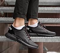 Кроссовки мужские повседневные стильные удобные легкие в черном цвете, ТОП-реплика