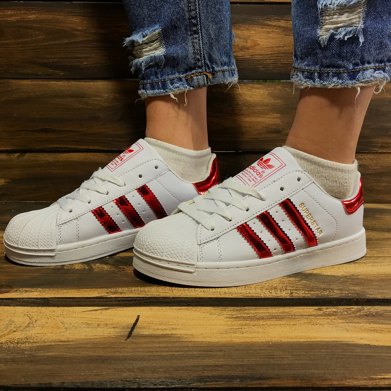 588dd8d95 Кроссовки женские весенние Adidas Superstar (реплика): продажа, цена ...