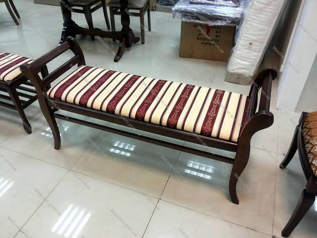 Банкетка для прихожей Роял Микс мебель, цвет темный орех, фото 2