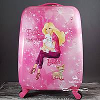 Детский дорожный чемодан на 4-х колесах Барби В-712