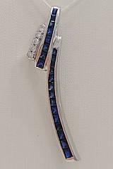 Підвіска золота з діамантами і сапфірами КР_0517S