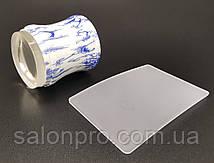 Большой односторонний силиконовый штамп и скрапер для стемпинга, голубые цветы