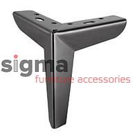 Ножка мебельная B 301 черный хром