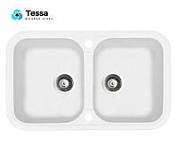 Мойка кухонная гранитная Tessa Duoss белая 71001