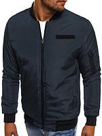 Мужская куртка бомбер синий, фото 1