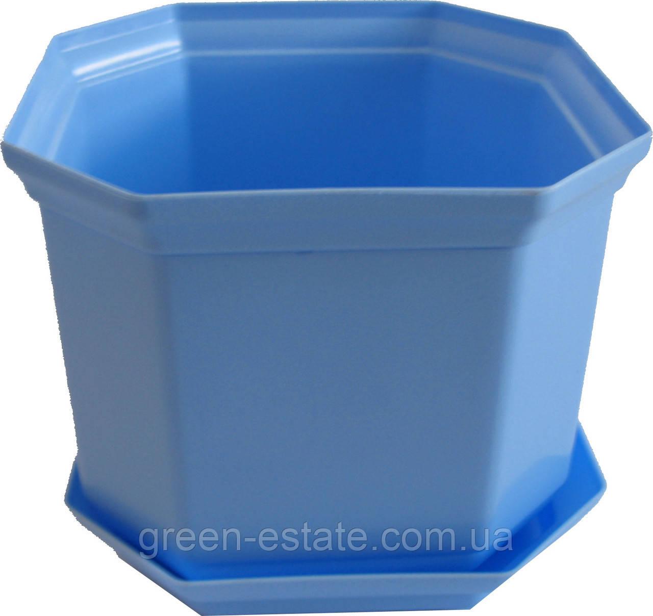 Вазон Дама 14 1,6 л синий
