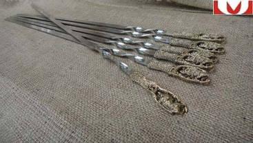 """Набор шампуров ручной работы """"Дикий кабан"""", в подарочном кейсе, фото 2"""