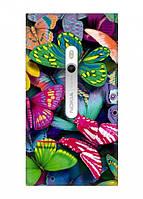 Чехол для Nokia Lumia 800 (Тропические бабочки)
