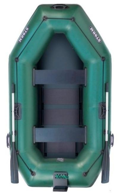 Aqua Storm SS280Dt - лодка надувная двухместная Шторм 280 с навесным транцем и ковриком