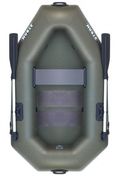 Aqua Storm st220c - лодка надувная одноместная Шторм 220 с реечным ковриком