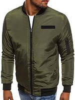 Мужская куртка осень  бомбер оливка