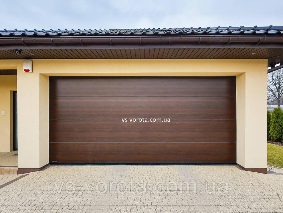 Ворота гаражные секционные GANT Чехия размер 4000х2000 мм
