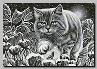 Схема для вышивки бисером Ночной кот