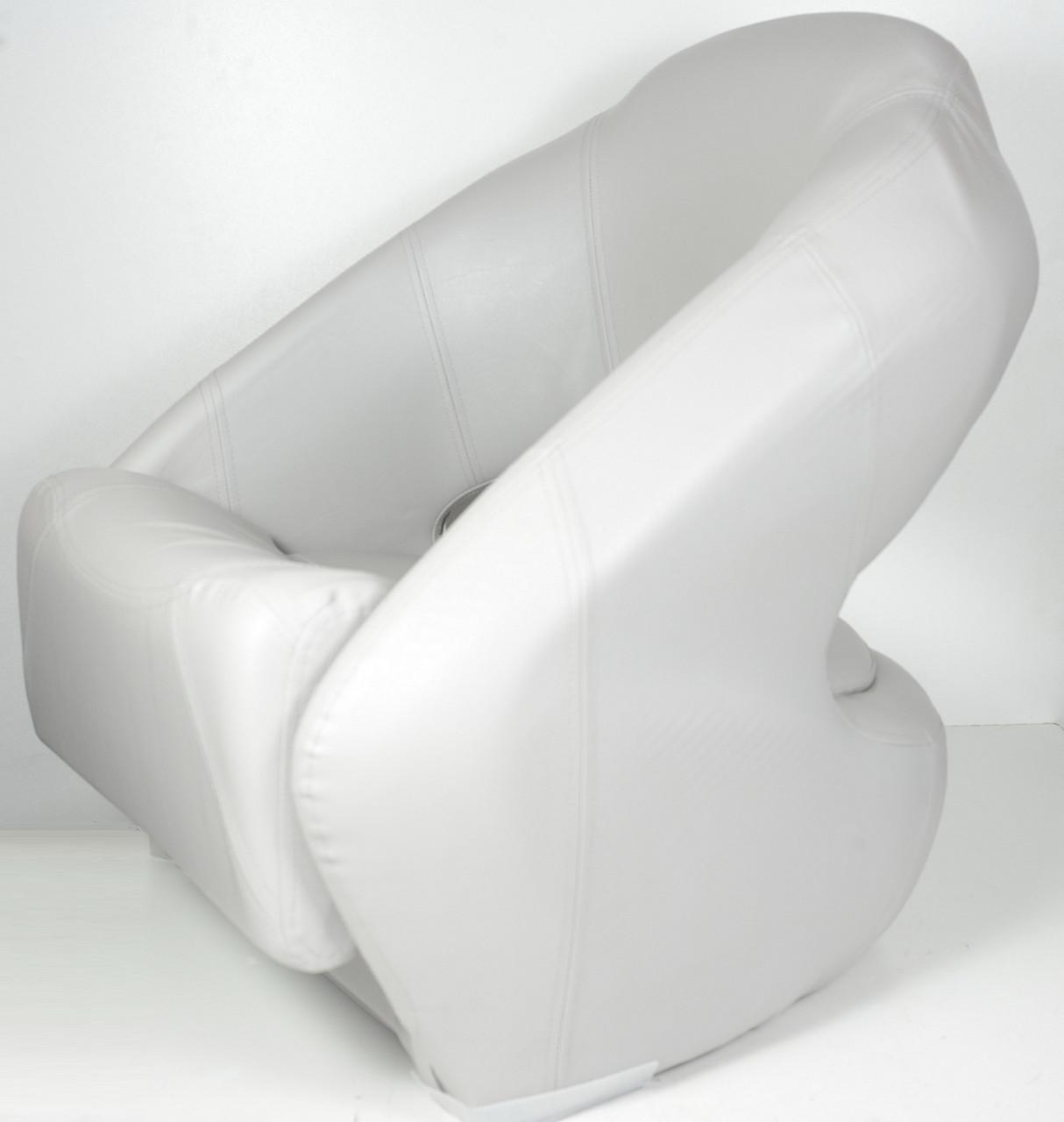 Кресло сиденье серое для лодки и катера Premium Bucket с системой flip-up, 86551G
