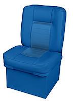 Кресло сиденье синее с тумбой для лодки и катера Premium Jump Seat 86205B