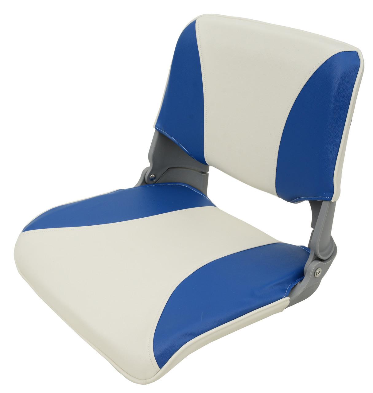 Сиденье складное для лодки и катера сине-серое AquaL 1000022