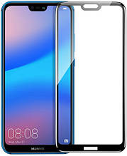 Защитное стекло 5D Huawei P20 Lite (черный)