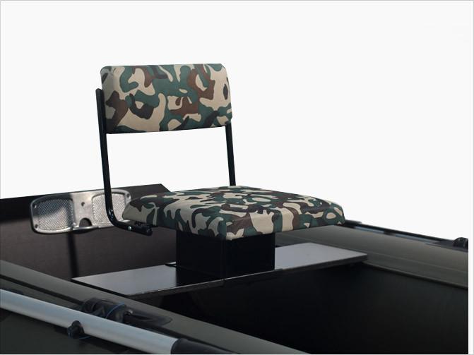 Omelux Camo PVC - сиденье для надувной ПВХ лодки поворотное металлическое со спинкой