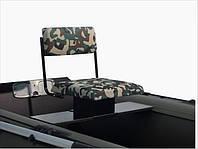 Сиденье для надувной лодки поворотное металлическое