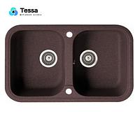 Мойка кухонная гранитная Tessa Duoss шоколадная 74004