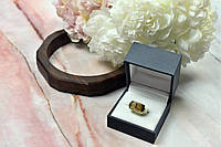 Золотое кольцо с камнем Гессонит