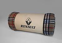 """Плед автомобильный """"Renault"""" в футляре. Размер пледа: 150х180 см. Плед в машину, оригинальный подарок., фото 1"""