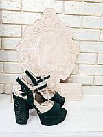 Босоножки женские на устойчивом каблуке RS 1766 разные цвета