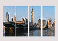 "Модульная картина ""Лондон"" - 4 сегмента, фото 1"