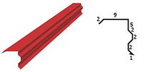 Планка ветровая фигурная 0,5 мм РЕ Ral 3005 2 метра