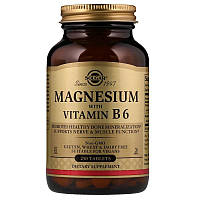 Магний с витамином В6, Solgar, Magnesium with Vitamin B6, 250 таблеток