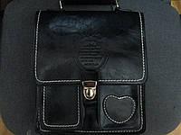 Кожаная  сумка ALILAI производства Индонезия. Сумка планшет через плечо. Городской рюкзак., фото 1