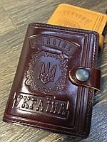 Универсальная кожаная обложка на id паспорт,авто мини