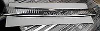 Накладки на задний бампер Peugeot Partner 2008> нержавейка с загибом и снадписью
