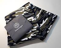 """Плед автомобильный """"Volkswagen"""" в футляре. Размер пледа: 150х180 см. Плед в машину, оригинальный подарок., фото 1"""