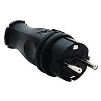 Вилки розетки IP44 вилка кабельная, черная