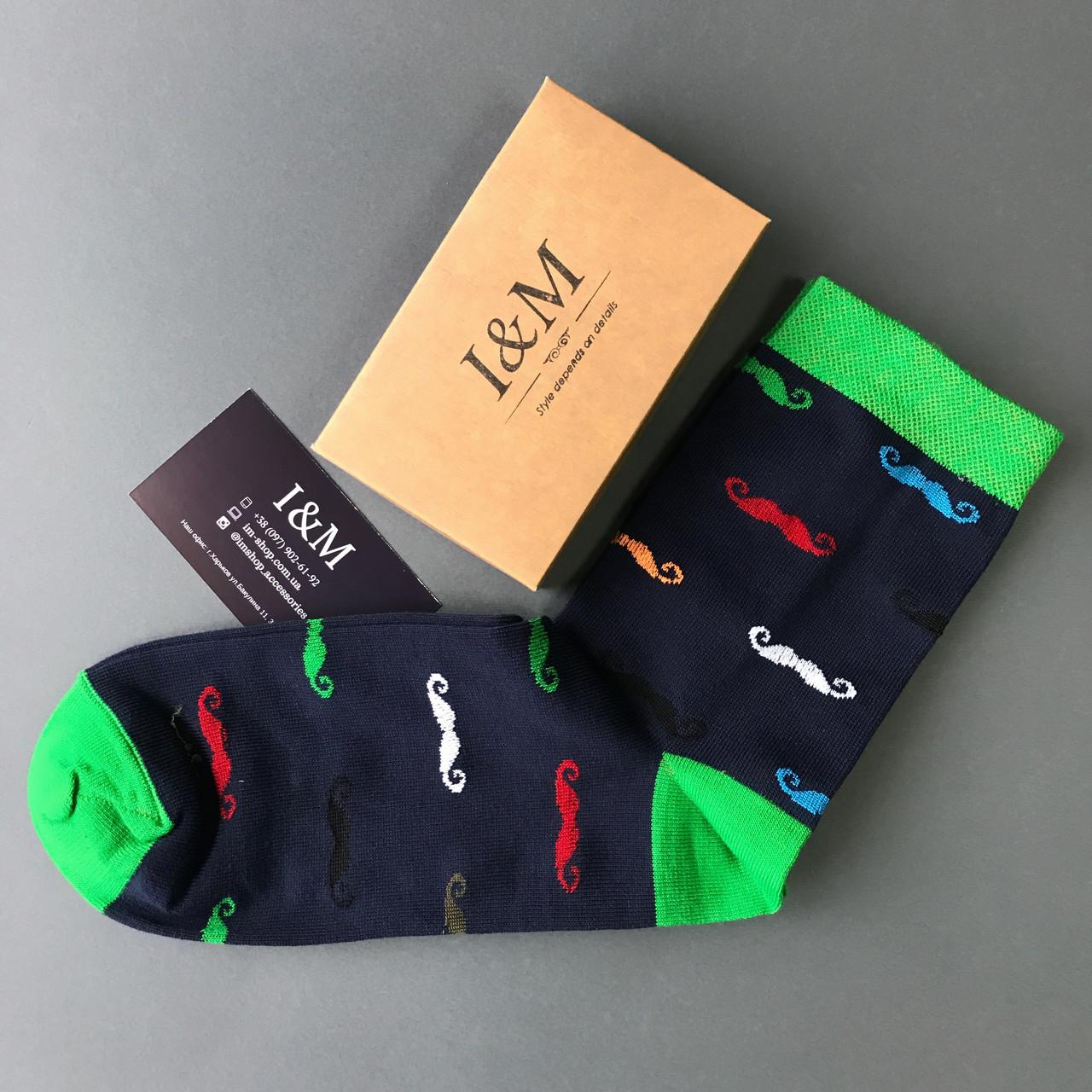 Шкарпетки I&M Craft Elegant's темно-сині з вусами (070170)