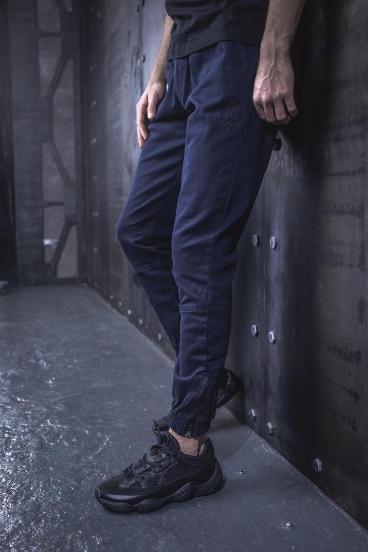 Мужские Джоггеры BEZET 2.0 dark blue'19, мужские весенние штаны джогеры, темно-синие легкие брюки