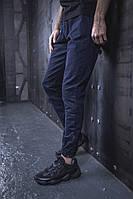 Мужские Джоггеры BEZET 2.0 dark blue'19, мужские весенние штаны джогеры, темно-синие легкие брюки, фото 1