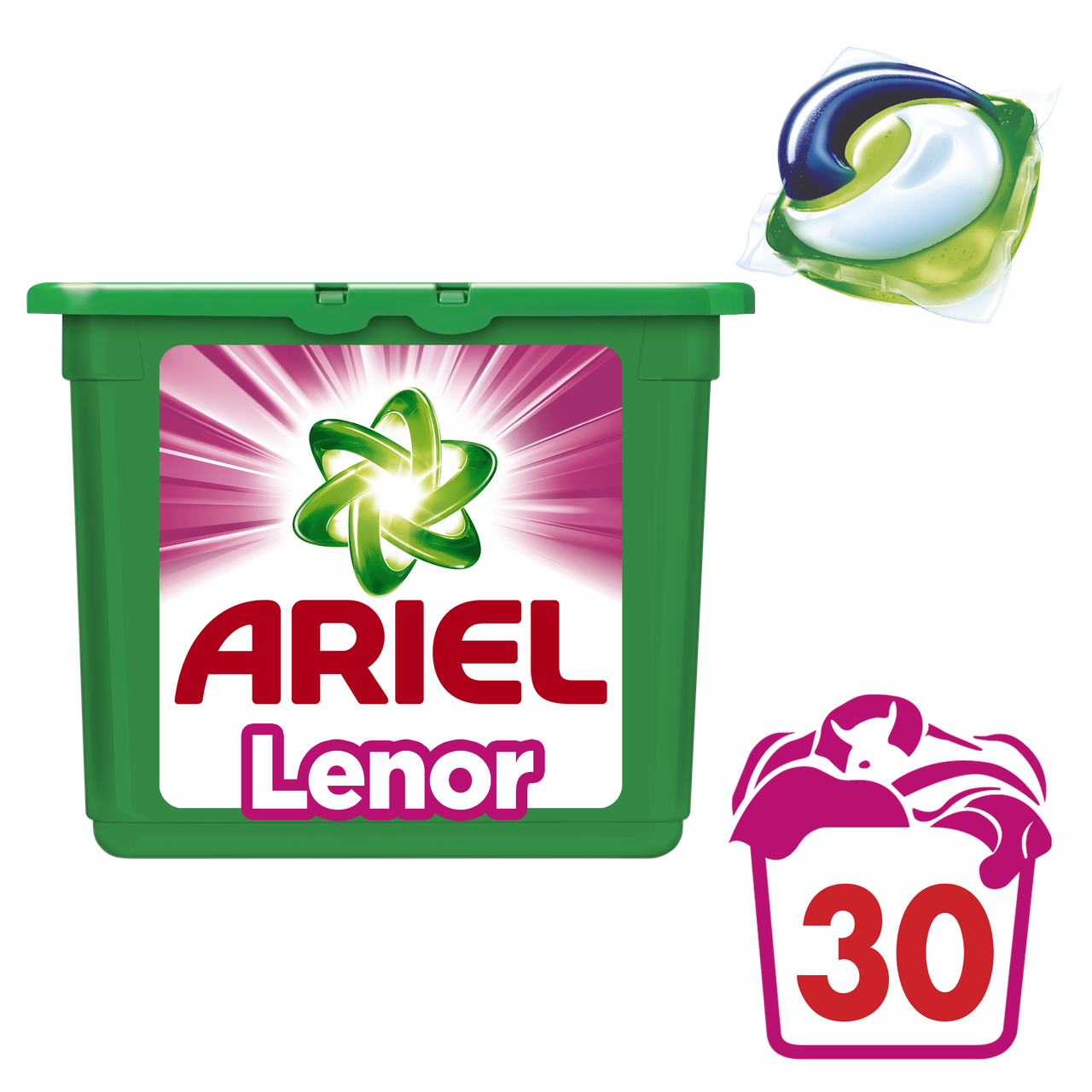 Капсулы Ariel PODS Touch of Lenor Fresh, 30шт