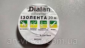 Изолента DIALAN 0,13ммХ15мм 20м, белая