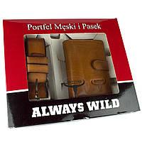 Подарочный набор Always Wild PSB-D1072-01-GG  (портмоне + ремень), фото 1