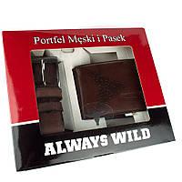 Подарочный набор Always Wild PSB-N7-02-GG (портмоне + ремень), фото 1